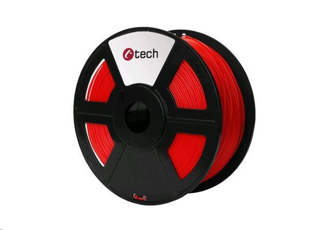 C-TECH tisková struna ( filament ) , ABS, 1,75mm, 1kg, fluorescenční červená