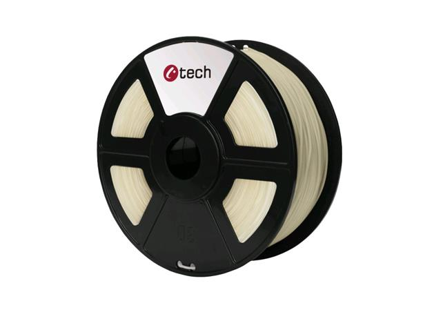 C-TECH tisková struna ( filament ) , ABS, 1,75mm, 1kg, transparentní