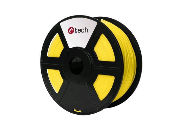 C-TECH tisková struna ( filament ) , ABS, 1,75mm, 1kg, žlutá