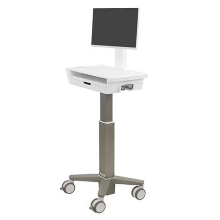 ERGOTRON CareFit™ Slim 2.0 LCD Cart, 1 Drawer (1x1)Light-Duty Medical Cart, lehký vozík , monitor, prac.plocha, šuplík
