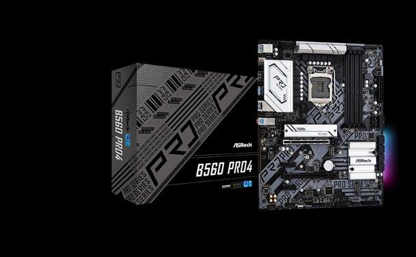 ASROCK B560 PRO4 (intel 1200, 4xDDR4 4800MHz, 6xSATA3, M.2(wifi), HDMI+DPort, 1xGLAN, ATX)