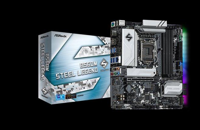 ASROCK B560M STEEL LEGEND (intel 1200, 4xDDR4 4800MHz, 6xSATA3, M.2, HDMI+Dport, 1xGLAN, mATX)