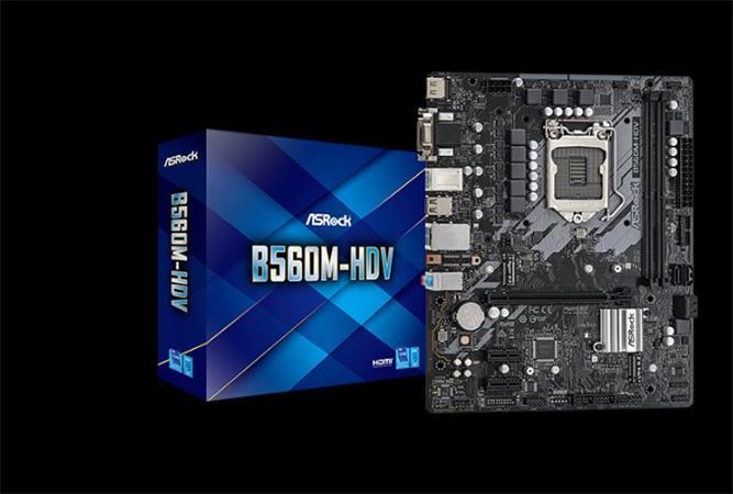 ASROCK B560M-HDV (intel 1200, 4xDDR4 4800MHz, 6xSATA3, M.2, HDMI+Dport, 1xGLAN, mATX)