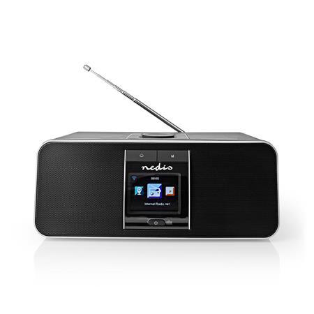 """Nedis RDIN5005BK - Internetové Rádio - Stolní Provedení/Bluetooth/Wi-Fi/DAB+/FM/Internet/2,4""""/42W/Budík/Černá"""