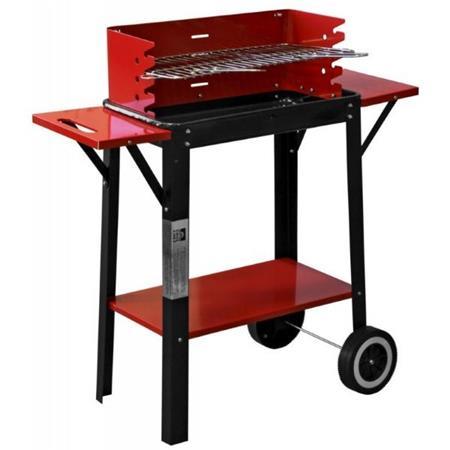 LANDMANN gril na dřevěné uhlí (vozík), obdélníkový, grilovací plocha 46,5 x 24 cm