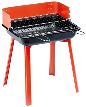 LANDMANN gril na dřevěné uhlí PORTAGO, skládací, grilovací plocha 33 x 26 cm, červený