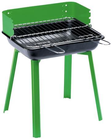 LANDMANN gril na dřevěné uhlí PORTAGO, skládací, grilovací plocha 33 x 26 cm, zelený