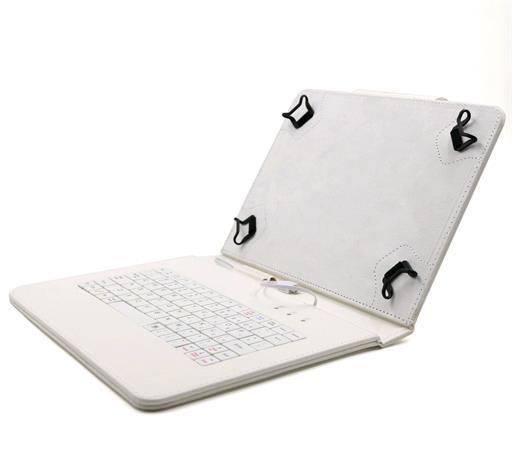 """C-TECH PROTECT pouzdro univerzální s klávesnicí pro 9,7""""-10,1"""" tablety, FlexGrip, NUTKC-04, bílé"""
