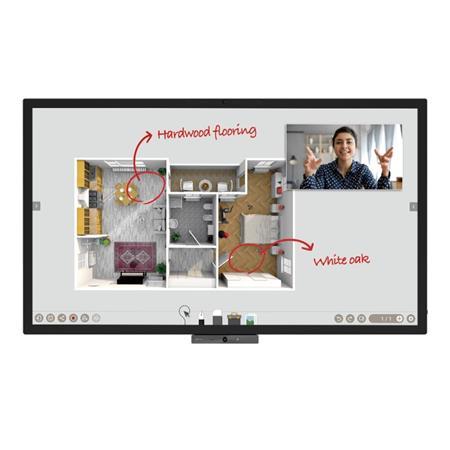 """BenQ LCD CP6501K 65"""" 3840x2160 Touch/5000:1/320 nits/3xHDMI/VGA/7xUSB/RJ45/RS232/3.5mm/VESA/2x10W+16Wsub repro"""