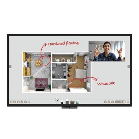 """BenQ LCD CP8601K 86"""" 3840x2160 Touch/1200:1/350 nits/3xHDMI/VGA/7xUSB/RJ45/RS232/3.5mm/VESA/2x10W+16Wsub repro"""
