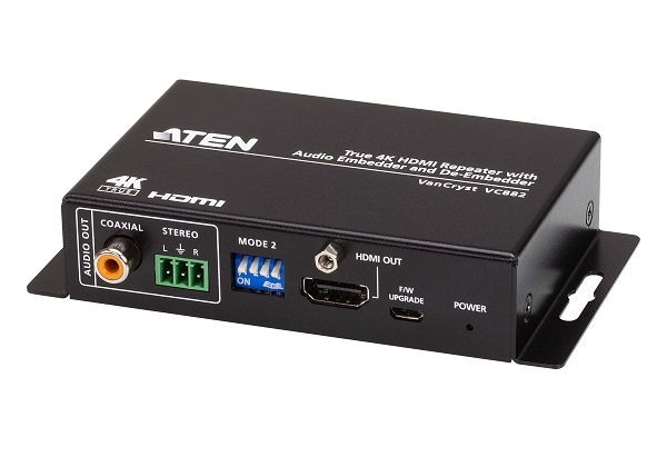 Aten 4K HDMI Repeater with Audio Embedder and De-Embedder