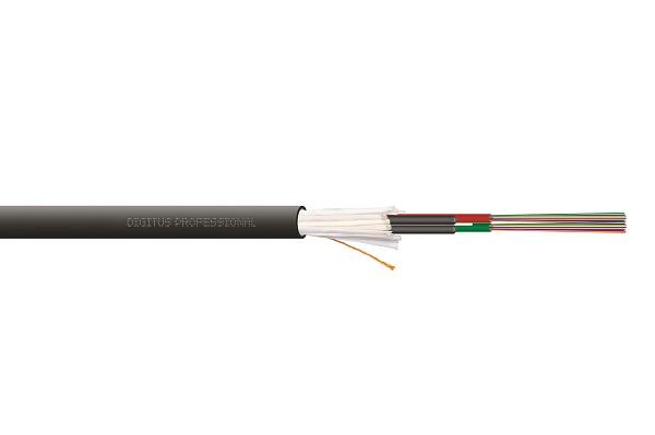 DIGITUS instalační kabel vnitřní/venkovní A/I-DQ (ZN) BH 50/125µ OM4, 24 vláken, CPR Dca, LSZH-1 - 1m