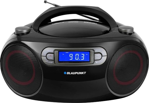 BLAUPUNKT Rádiomagnetofon BB18BK FM/CD/MP3/USB/AUX, budík